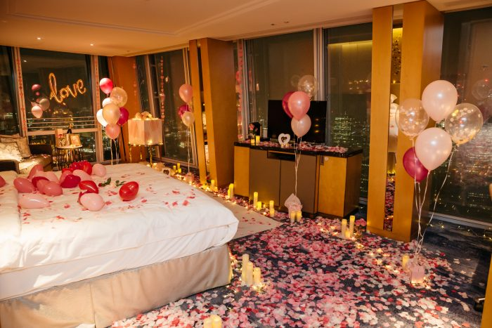 Man Turns Hotel Room Into Fairytale Surprise Proposal For His Girlfriend