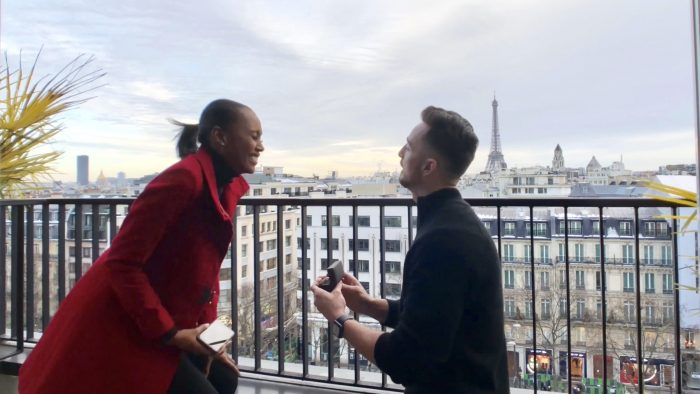 Louina's Proposal in Paris, France