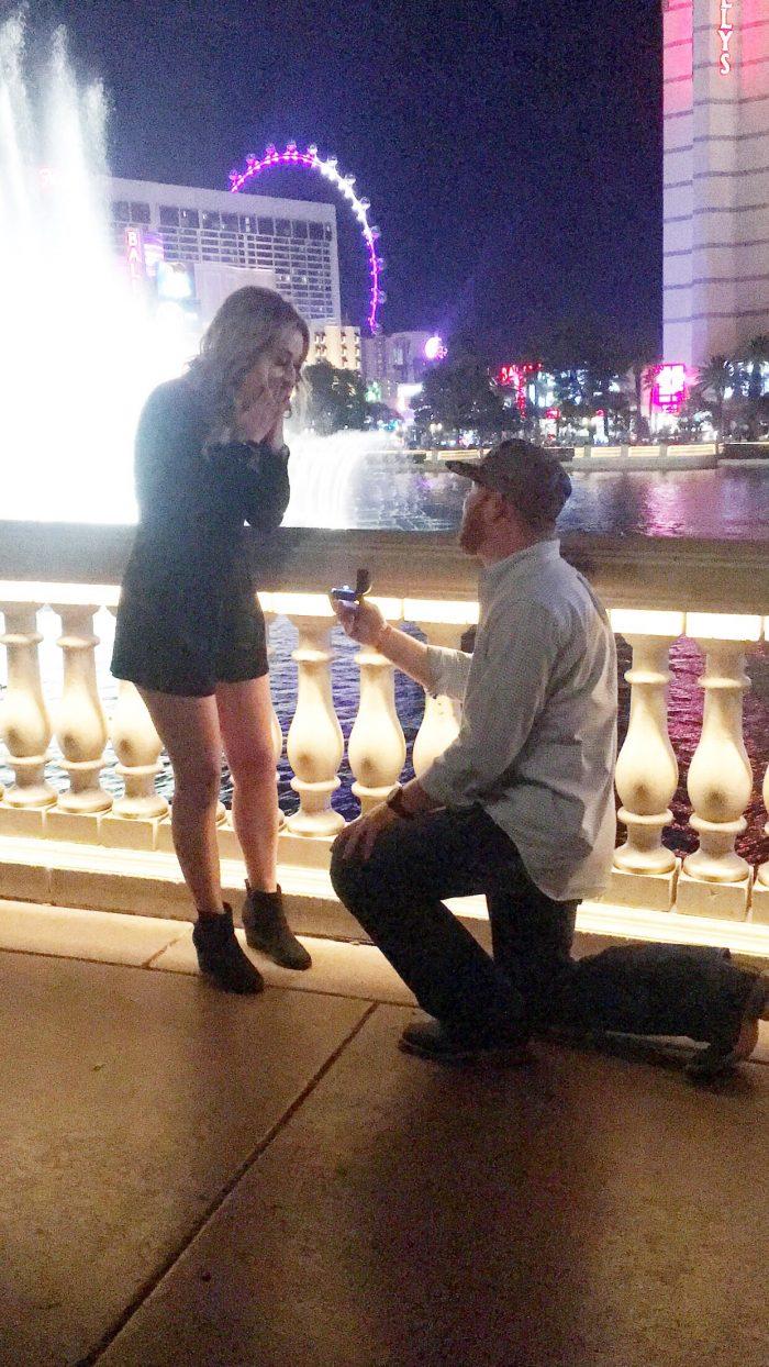 Wedding Proposal Ideas in Las Vegas, Navda at the Belligo Water Show