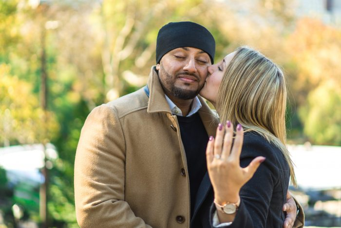 Inderjit (Indo) and Teresa's Engagement in Central Park, NYC