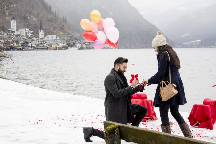 Satnam's Proposal in Hallstatt, Austria