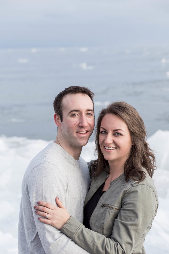 Anna and Eric's Engagement in At home in Duluth, MN
