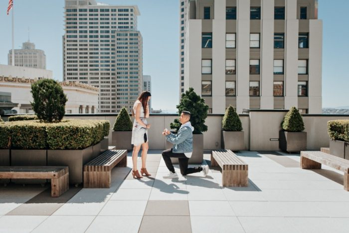 Marriage Proposal Ideas in San Francisco, CA (Rooftop)