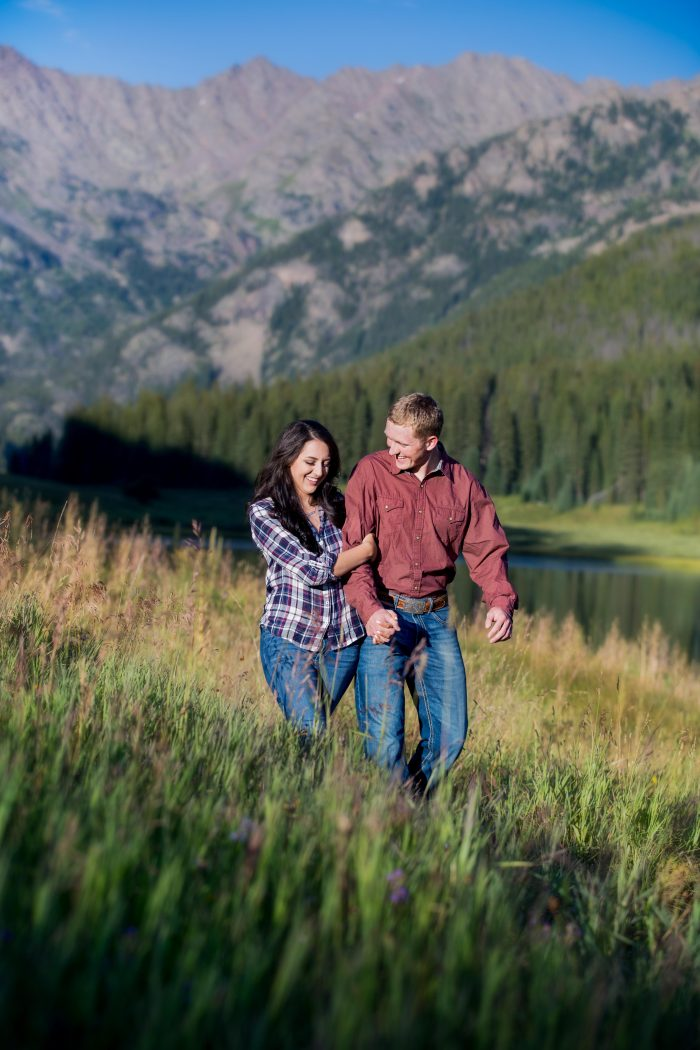 Hayley and Payton's Engagement in Colorado Mountains