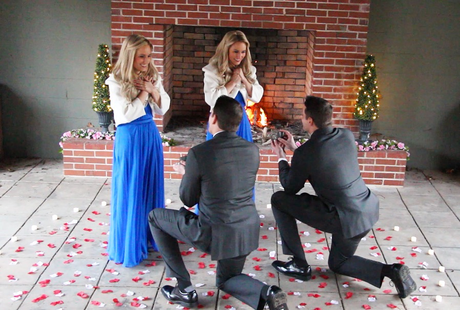 Image 4 of You Are Not Seeing Double – These Identical Twins Brothers Just Proposed to Identical Twins Sisters