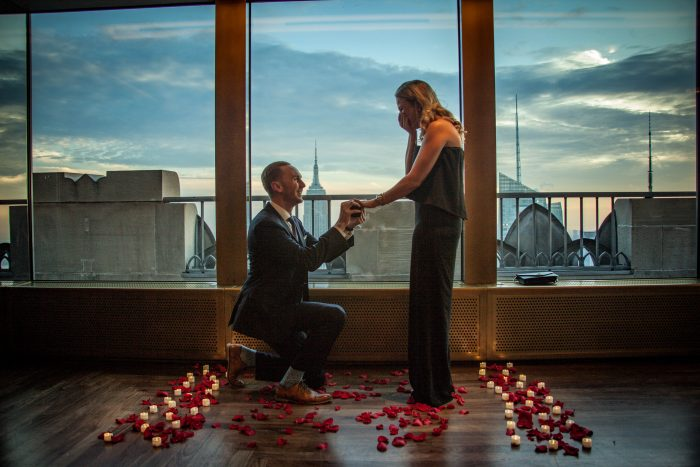 Christine's Proposal in Rainbow Room - New York, NY