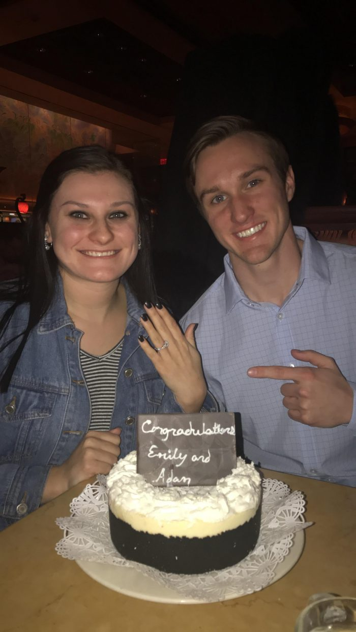 Emily and Adam's Engagement in AMC Theaters, Oklahoma City
