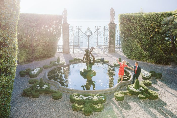 Lauren's Proposal in In the gardens of Villa Carlotta on Lake Como, Italy