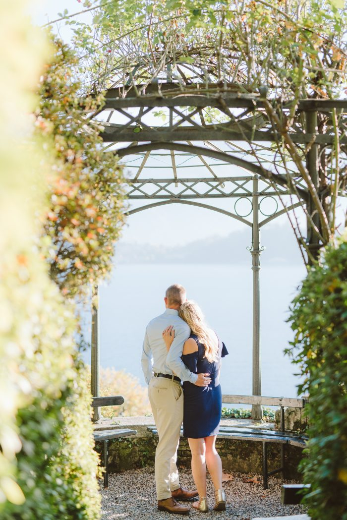 Lauren and Joshua's Engagement in In the gardens of Villa Carlotta on Lake Como, Italy