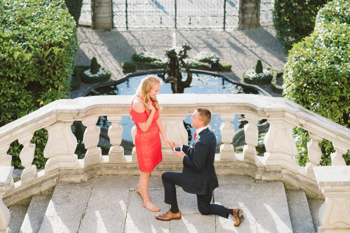 Marriage Proposal Ideas in In the gardens of Villa Carlotta on Lake Como, Italy