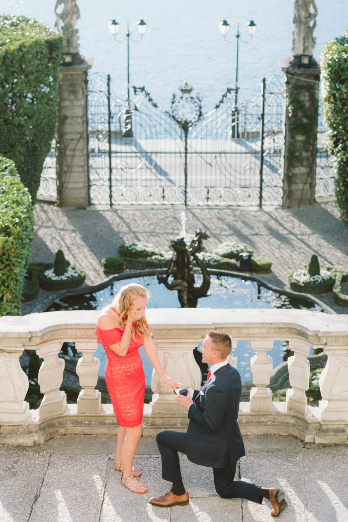 Wedding Proposal Ideas in In the gardens of Villa Carlotta on Lake Como, Italy