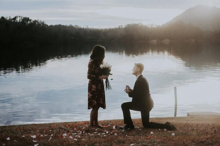 Marriage Proposal Ideas in Chilhowee (mountain) lake front, Cleveland, TN