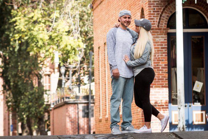 Megan's Proposal in Sacramento Kings Arena