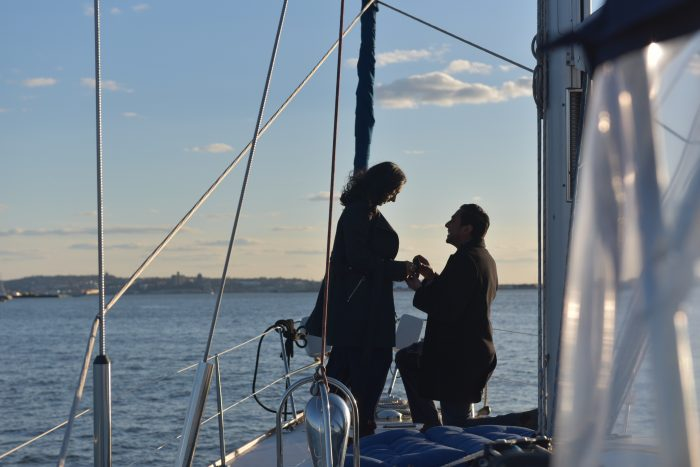 Wedding Proposal Ideas in On a sailboat on the Hudson River