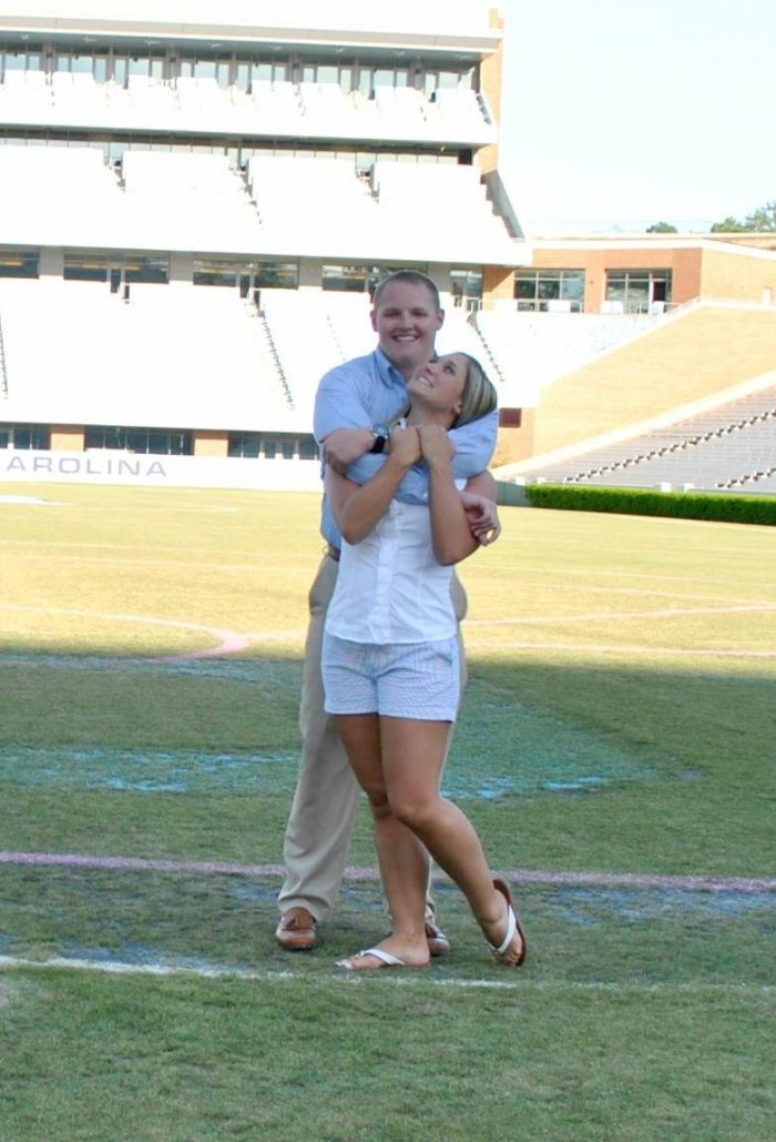 Ariel and Alex's Engagement in Kenan Memorial Stadium at UNC Chapel Hill