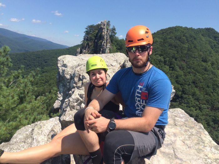 Meghan and Sean's Engagement in Seneca Rocks, West Virgina
