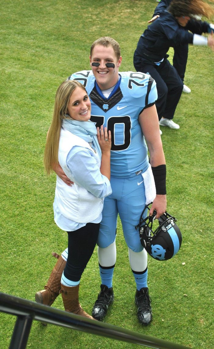 Marriage Proposal Ideas in Kenan Memorial Stadium at UNC Chapel Hill
