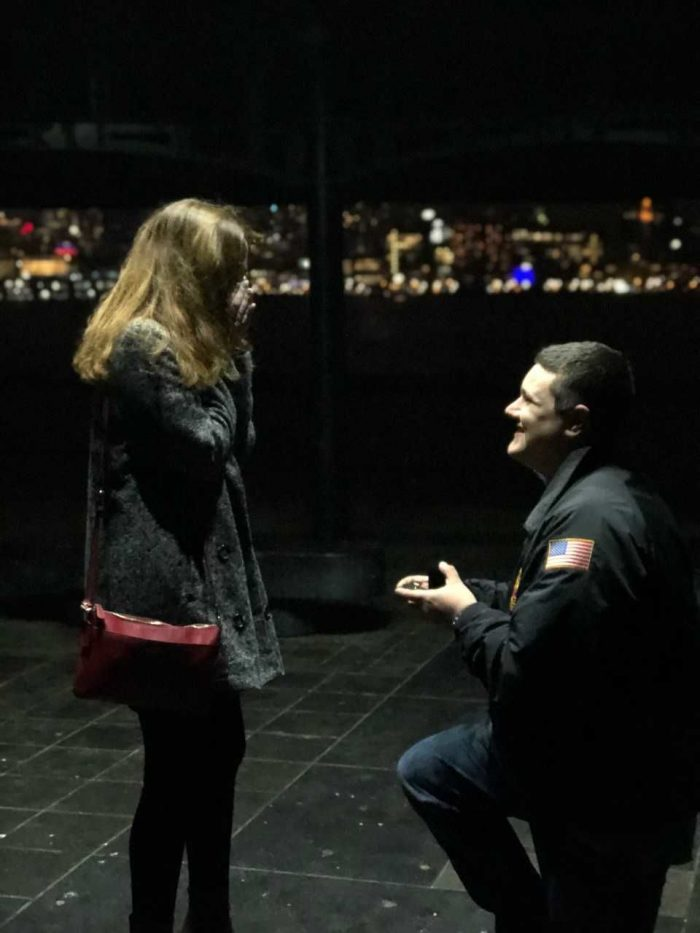 Where to Propose in Pier A Park in Hoboken, NJ