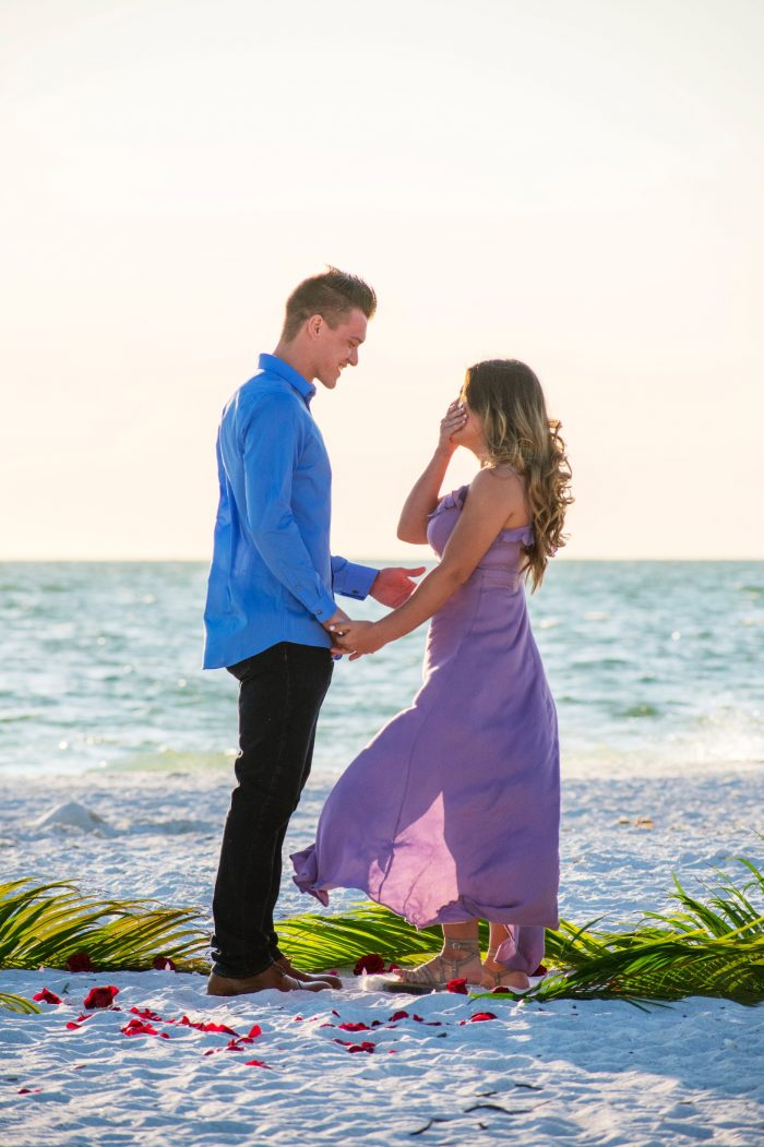 Engagement Proposal Ideas in Lovers Key Island, Florida