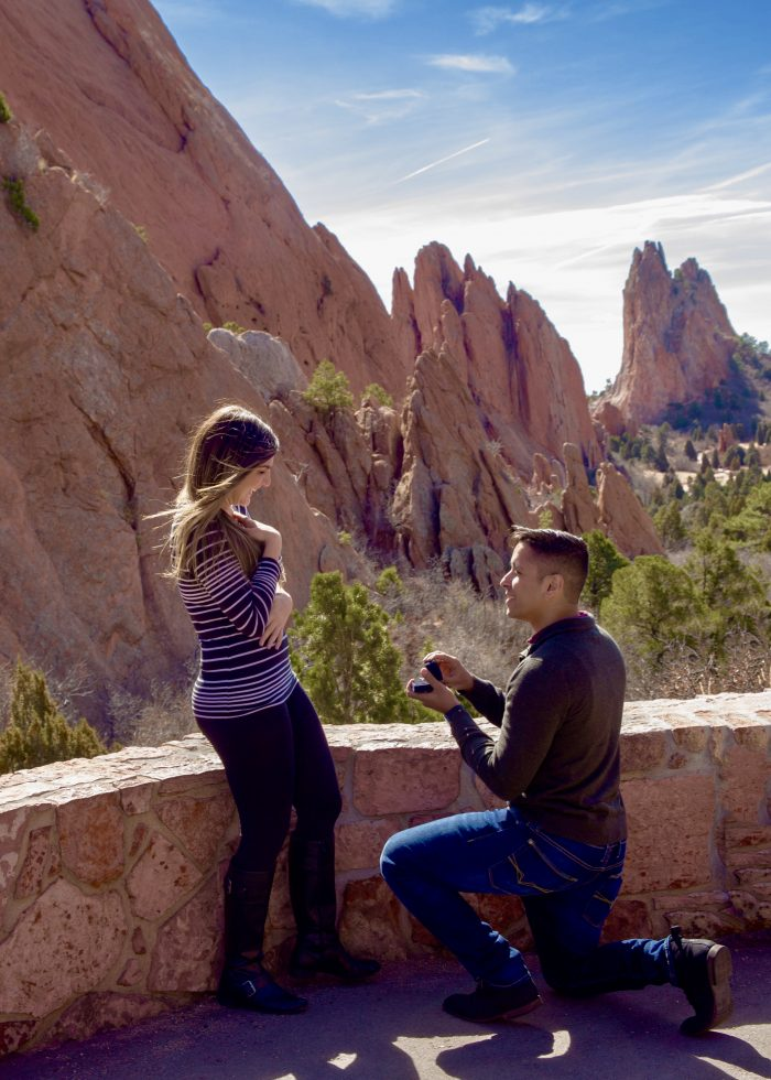 Michelle and Robson's Engagement in Garden of the Gods in Colorado Springs, Colorado
