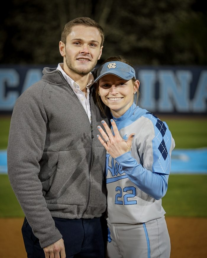 Destiny's Proposal in Eugene G Anderson Softball field