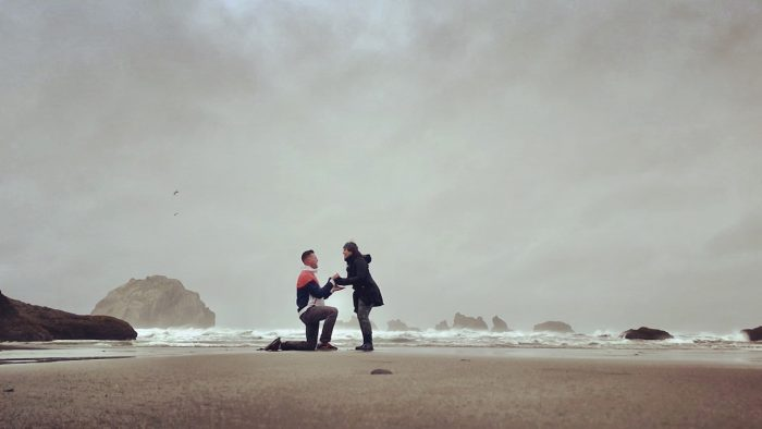 Ashley and James's Engagement in Oregon coast
