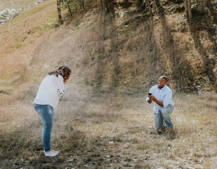 Wedding Proposal Ideas in A grassy field in our small town of Man WV