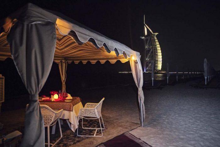 Where to Propose in Dubai - Semi Private Beach infront of the Burj Al Arab