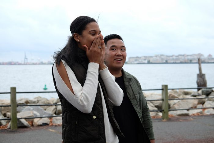 Wedding Proposal Ideas in Liberty State Park Jersey City New Jersey
