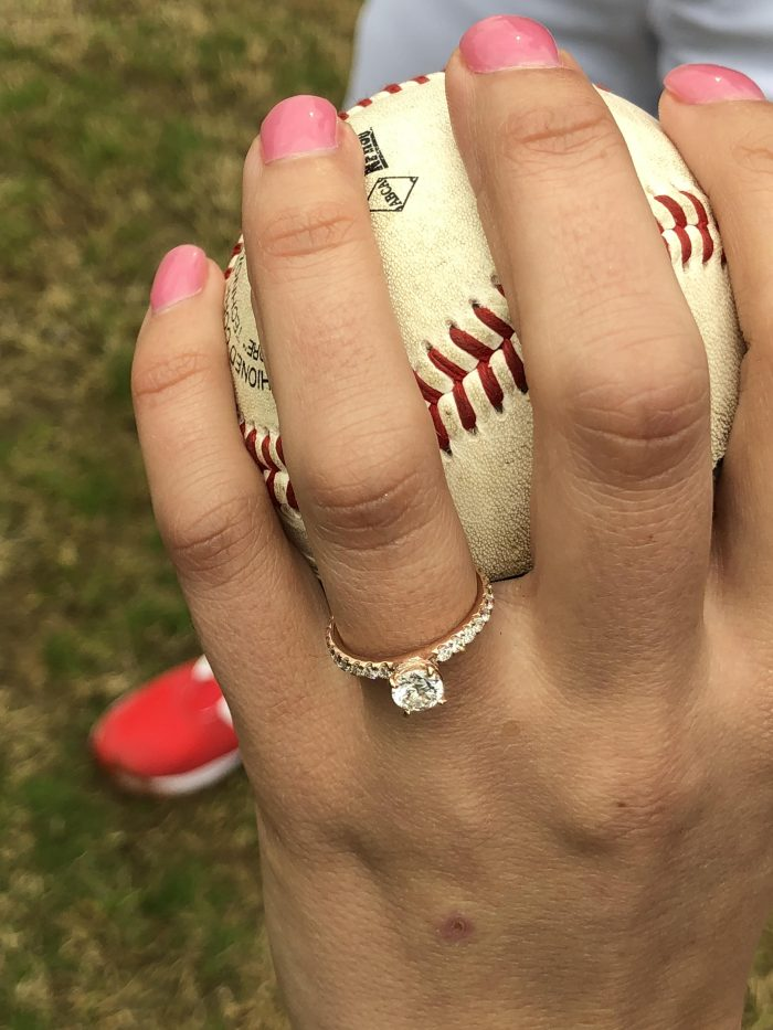 Proposal Ideas Rose Bud, Arkansas at a baseball field
