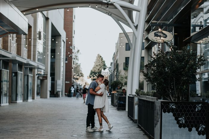 Madison and Wyatt's Engagement in Downtown Greenville SC