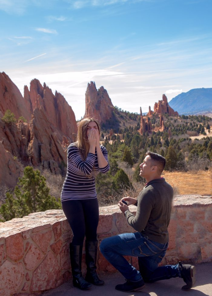 Marriage Proposal Ideas in Garden of the Gods in Colorado Springs, Colorado