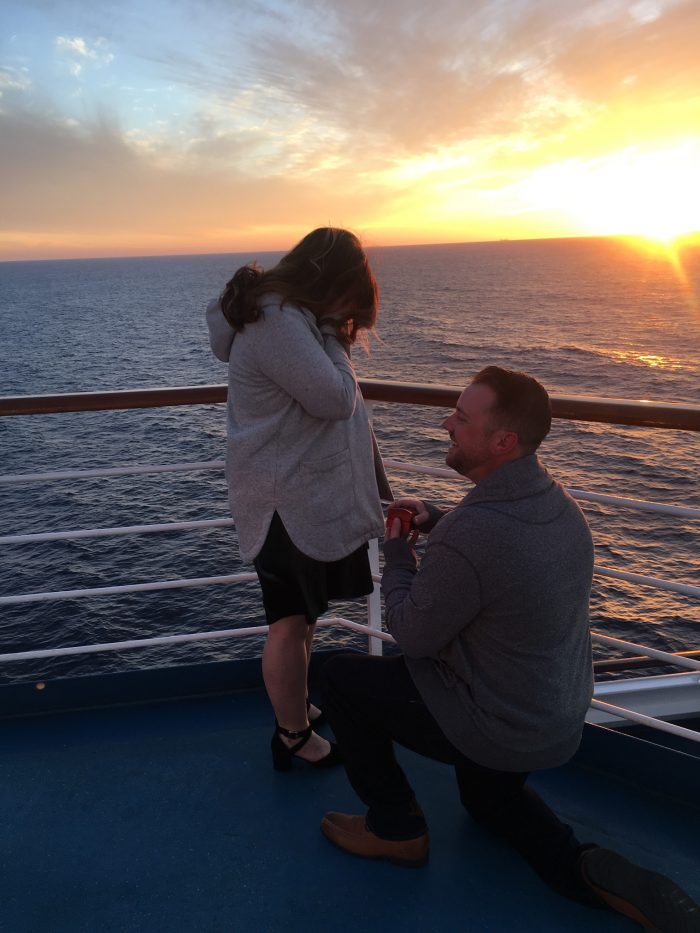 Engagement Proposal Ideas in On a cruise ship