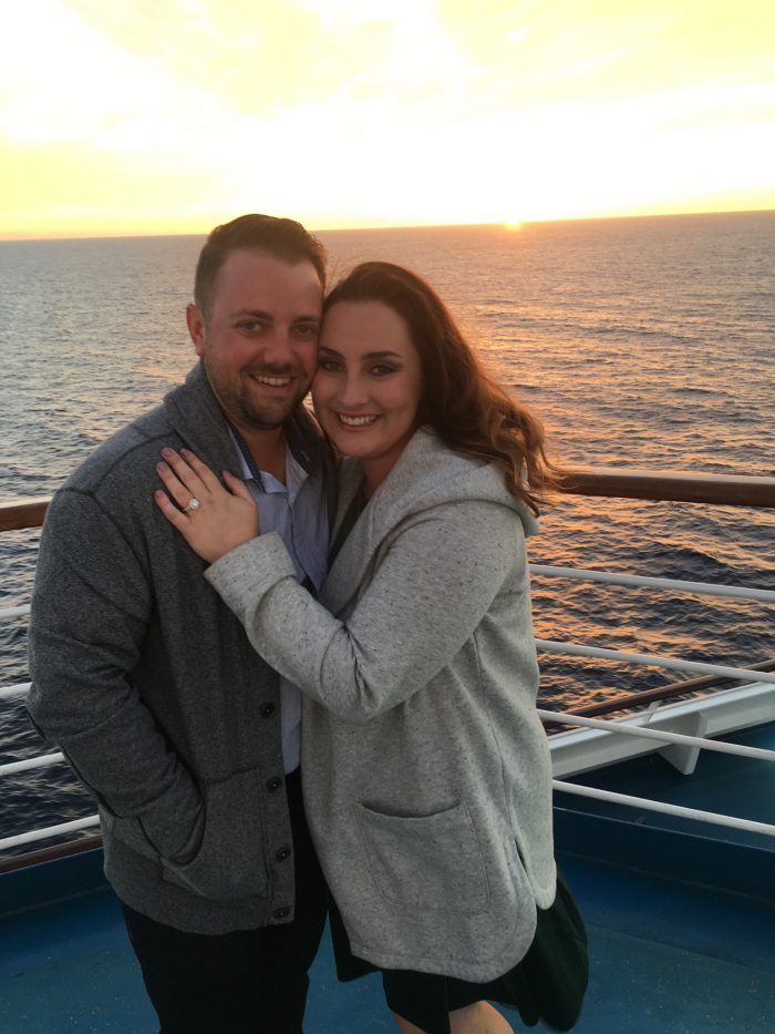 Courtney and Matthew's Engagement in On a cruise ship