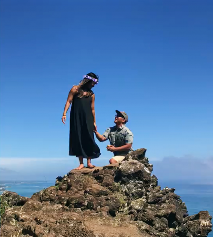 Engagement Proposal Ideas in Crouching Lion Hike, Kaaawa, HI