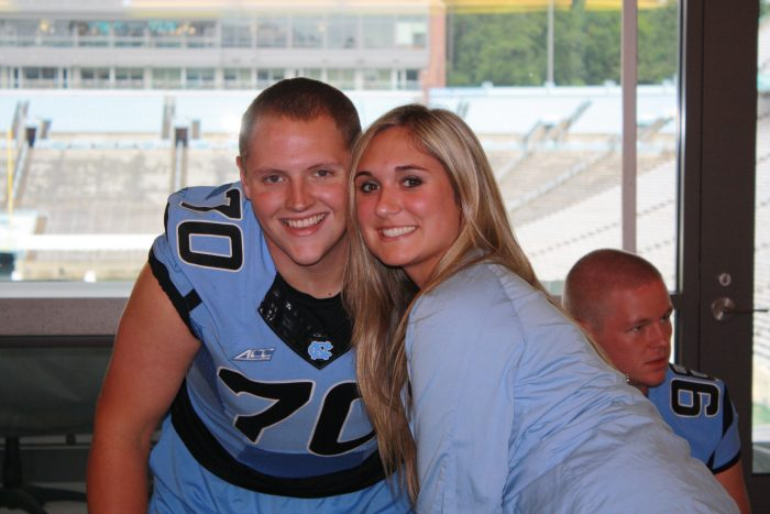 Ariel's Proposal in Kenan Memorial Stadium at UNC Chapel Hill