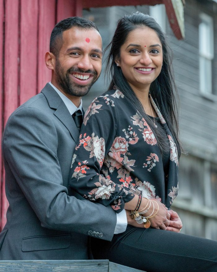 Shivangi and Darshan's Engagement in Clinton, New Jersey