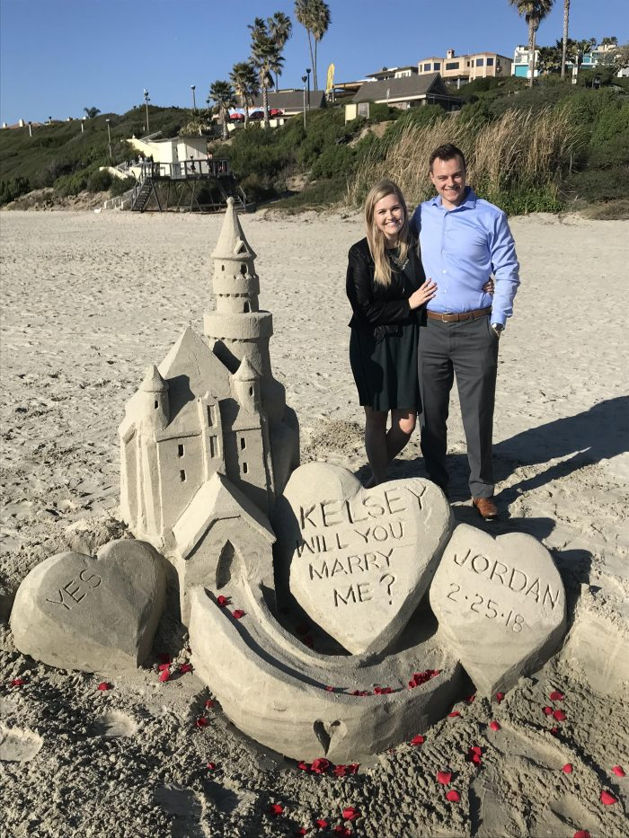 Engagement Proposal Ideas in Salt Creek Beach, Orange County CA