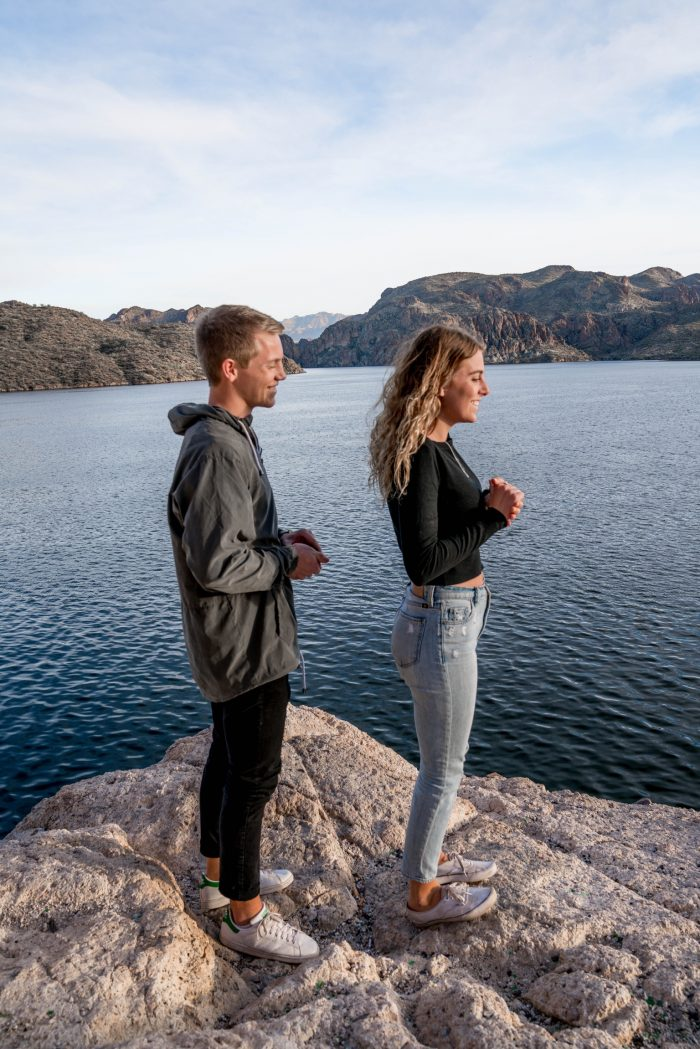 Isaiah and Courtney's Engagement in Saguaro Lake, Arizona