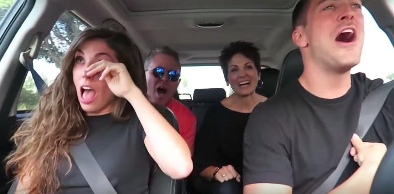 Image 3 of Carpool Karaoke Turns into Surprise Proposal for Adorable Couple