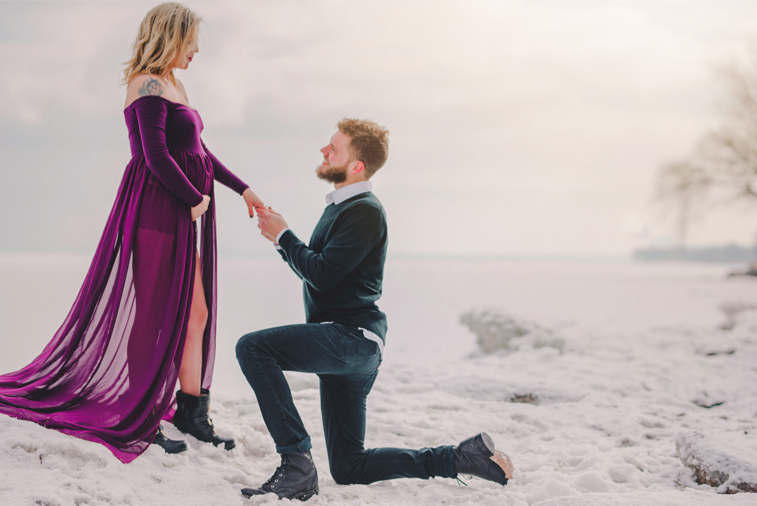 Image 3 of Maternity Shoot Turns into Surprise Marriage Proposal