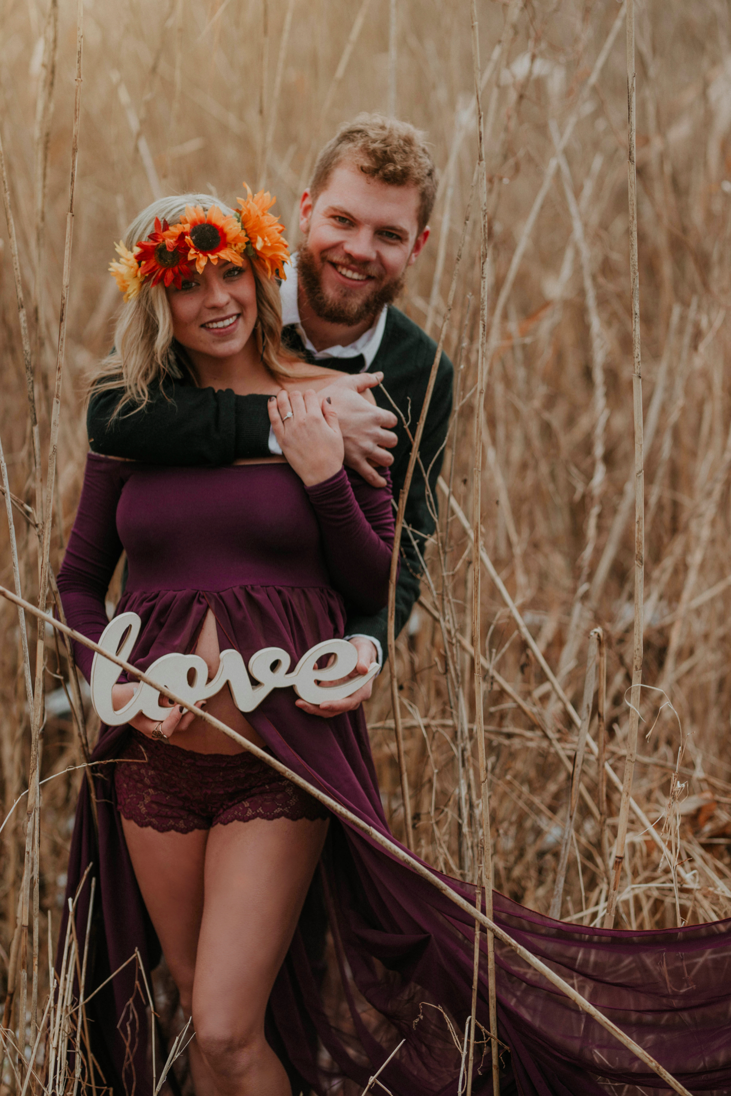 Image 1 of Maternity Shoot Turns into Surprise Marriage Proposal