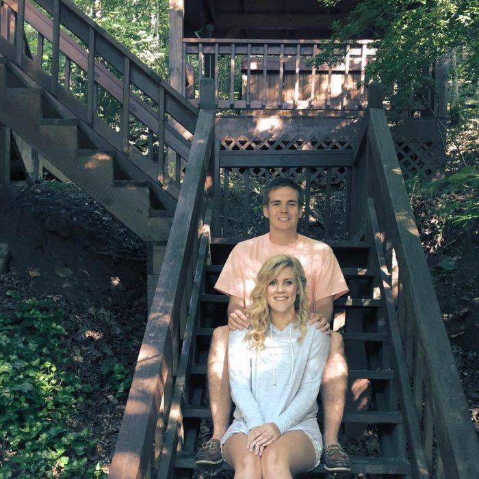 Kenzie and Bryan's Engagement in Cornerstone Tree Farm