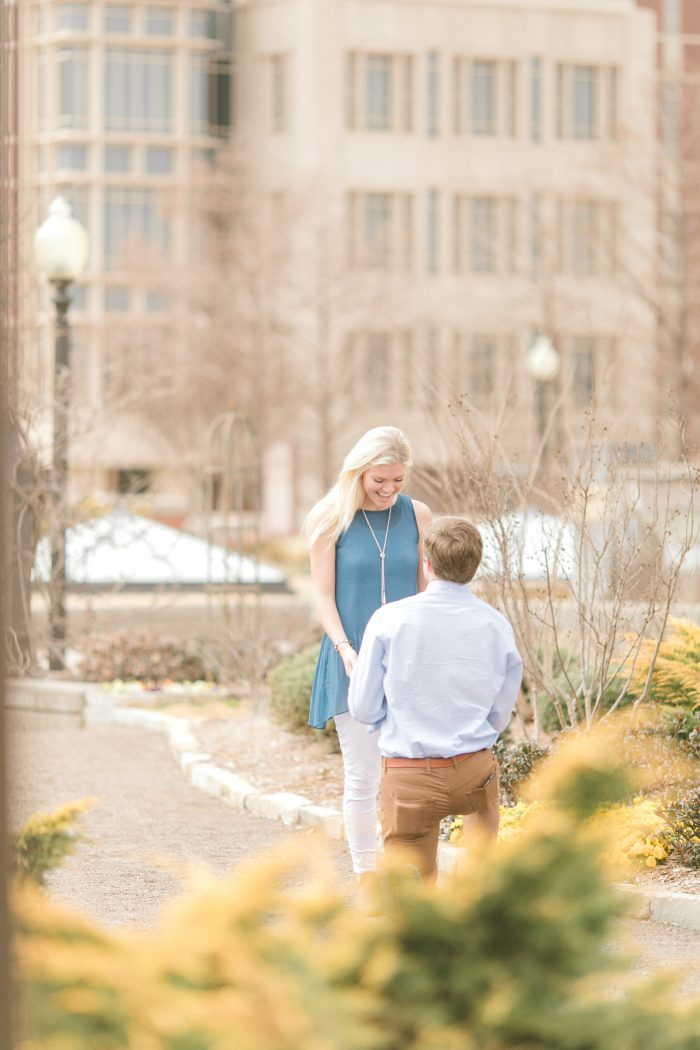 Lindsey and Will's Engagement in The University of Oklahoma