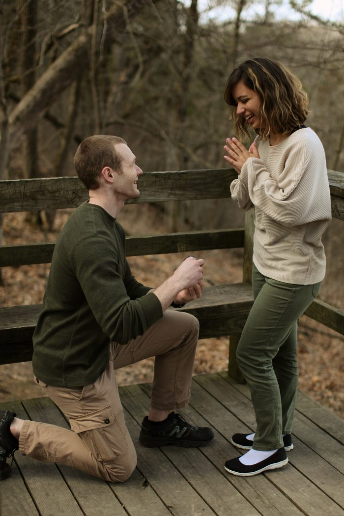 Marriage Proposal Ideas in White Pines State Park, Mt. Morris, IL