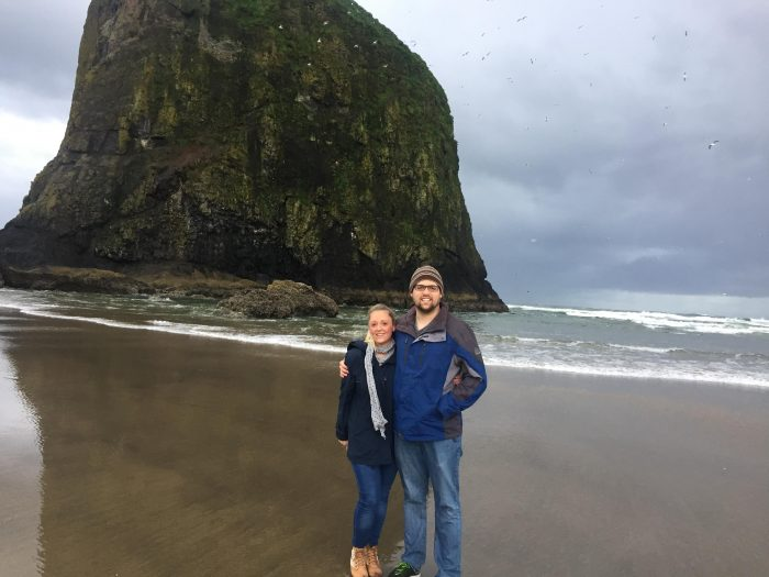 Engagement Proposal Ideas in Haystack Rock on Cannon Beach