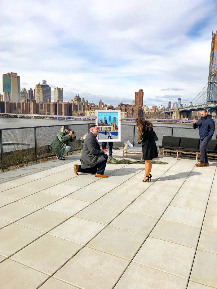 Kelly's Proposal in Dumbo, Brooklyn