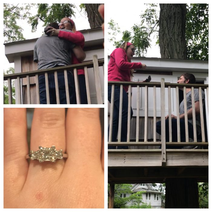 Liz and Phil's Engagement in My parents backyard!