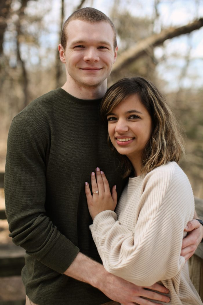 Engagement Proposal Ideas in White Pines State Park, Mt. Morris, IL