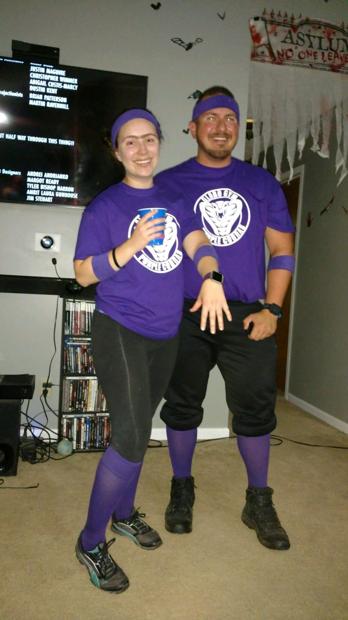 Engagement Proposal Ideas in At our house during our Halloween party